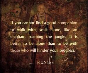 quote and Buddha image