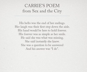 poem, SexAndTheCity, and sjp image