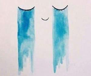 cry, art, and sad image
