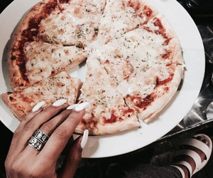 pizza, food, and nails image