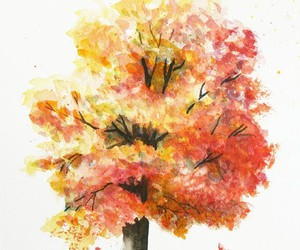 tree, autumn, and art image