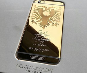 gold and albania image