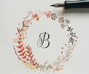 art, calligraphy, and drawing image