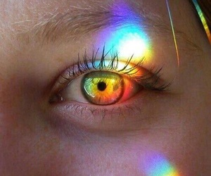 rainbow, eyes, and eye image