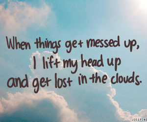 clouds, girl, and sky image