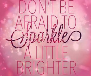 sparkle, pink, and quotes image
