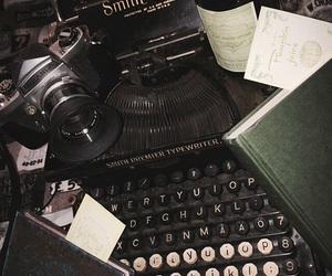 book, typewriter, and vintage image