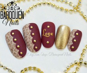 leopard, maroon, and pretty image