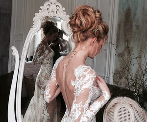 body, dress, and bride image