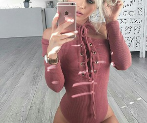 bodysuit, fashion, and outfit image