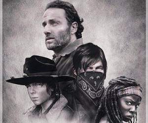 carl, rick, and the walking dead image