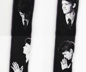 black and white and thomas sangster image