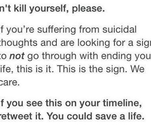 important, suicidal thoughts, and sad image