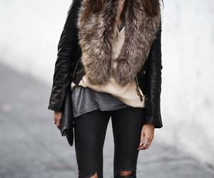 fashion, fur, and jacket image