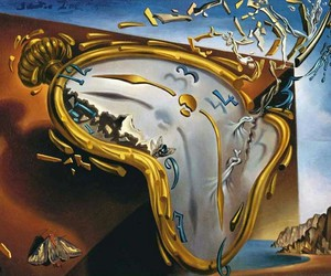 art, clock, and salvador dali image