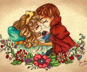 aurora, kiss, and princesa image