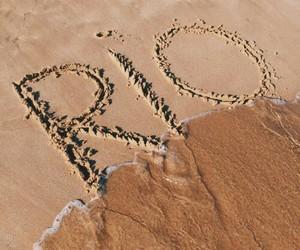 areia, mar, and paisagem image