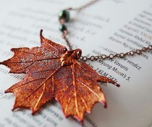 autumn, fall, and necklace image