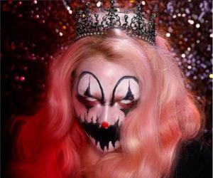 creepy, make up, and clown image