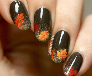 nails, fall, and autumn image