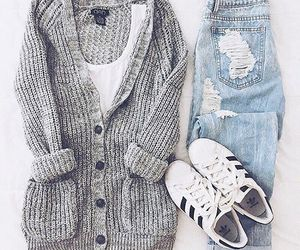 style, outfit, and adidas image