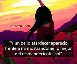 atardecer, frases, and hermoso image
