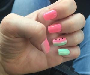 nail art, pink, and nails image