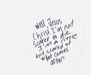 quote, jesus, and die image