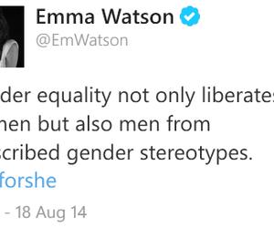 feminism, emma watson, and equality image