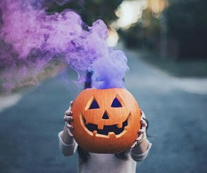 alternative, Halloween, and purple smoke image