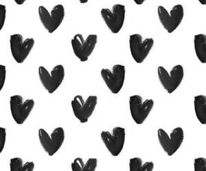 heart, black, and love image