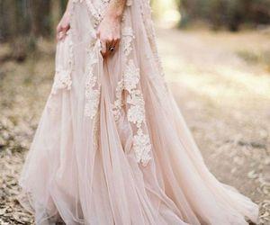 dress, wedding, and lace image