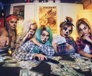 halloween costume, makeup, and girls squad image