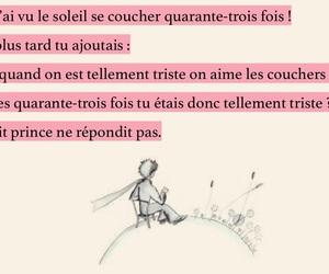 francais, petit prince, and sad image