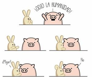 piglet, rabbit, and humanidad image
