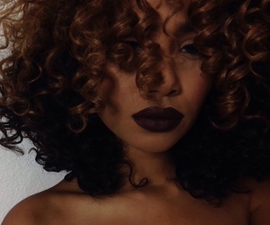 hair, curls, and makeup image
