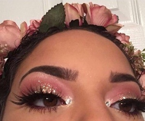 diamonds, eyebrow, and flower crown image