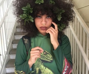 girl, beauty, and green image