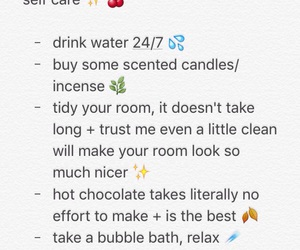 tips, tumblr, and self care image
