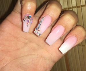 coffin, nails, and pink image