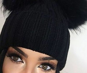eyes, beanie, and beauty image
