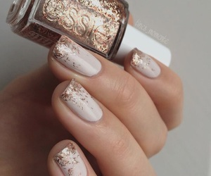 gold, nails, and inspiration image