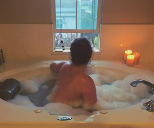 autumn, bubbles, and candles image
