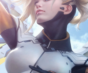 overwatch, art, and mercy image