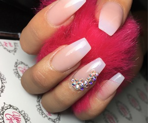 nails, natural, and Swarovski image