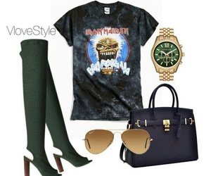 outfit, sunglasses, and watch image