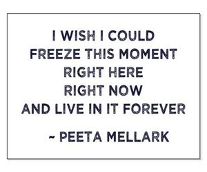 quote, peeta mellark, and the hunger games image