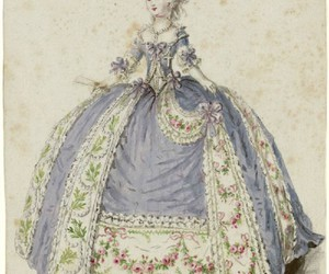 18th century, gown, and blue image
