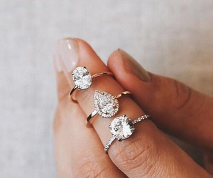 rings, diamond, and ring image