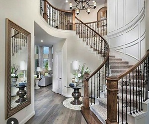 house, mirror, and stairs image